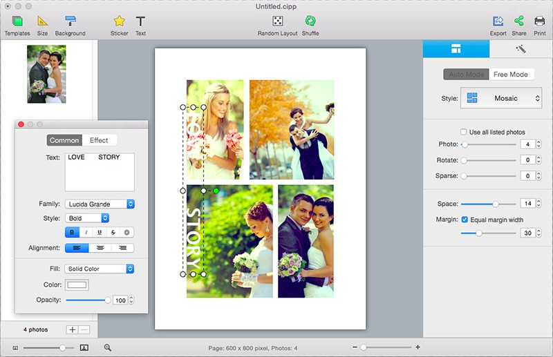 CollageIt for Mac 3.6.0