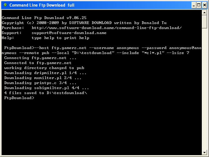 Command Line Ftp Download 9