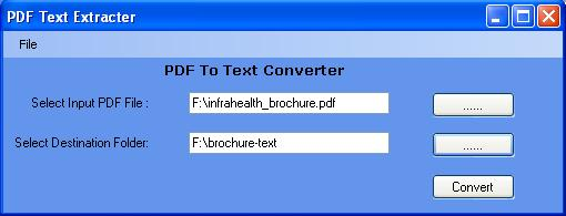 Convert PDF To Text File 1.0