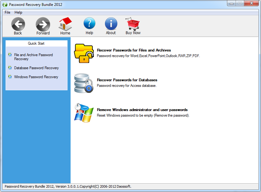 Password Recovery Bundle 2012 3.0.0.2