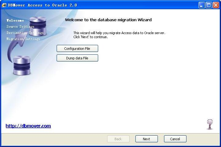 DBMover for Access to Oracle 2.0.1