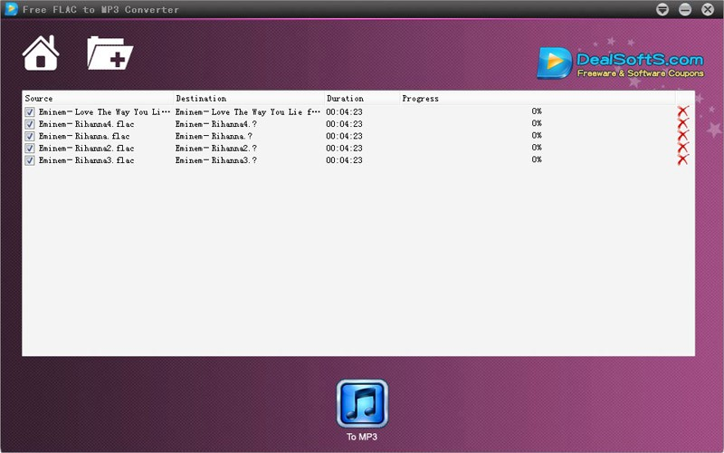 Dealsofts Free FLAC to MP3 Converter 1.0.0.1