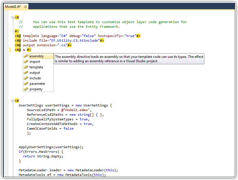 Devart T4 Editor for Visual Studio 2008 1.00