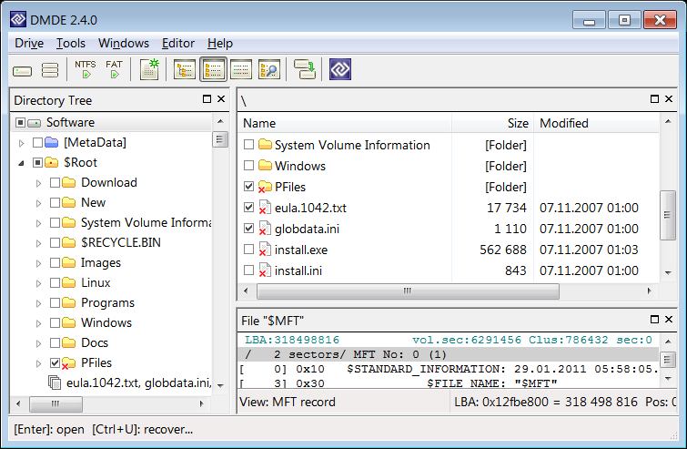 DMDE - DM Disk Editor and Data Recovery 3.0.6.640