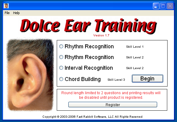 Dolce Ear Training 1.9.3