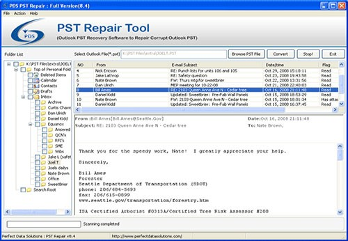 Download Microsoft PST File Recovery 8.4