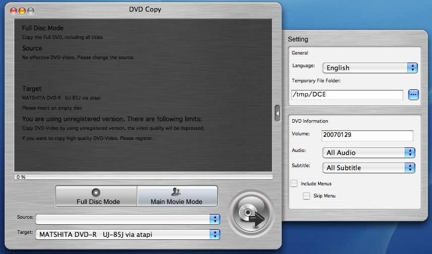 DVD Copy for Mac 1.5.38.0410