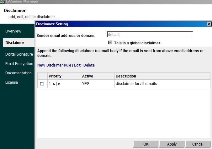 EA Disclaimer, S/MIME for Exchange Server and IIS SMTP Service 2.1.0.5