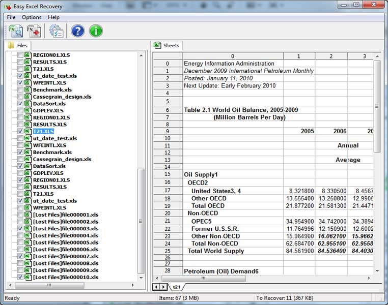 Easy Excel Recovery 2.0