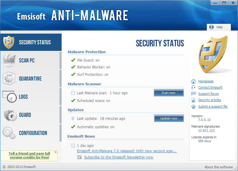 Emsisoft Internet Security Pack 9.0.0.4183