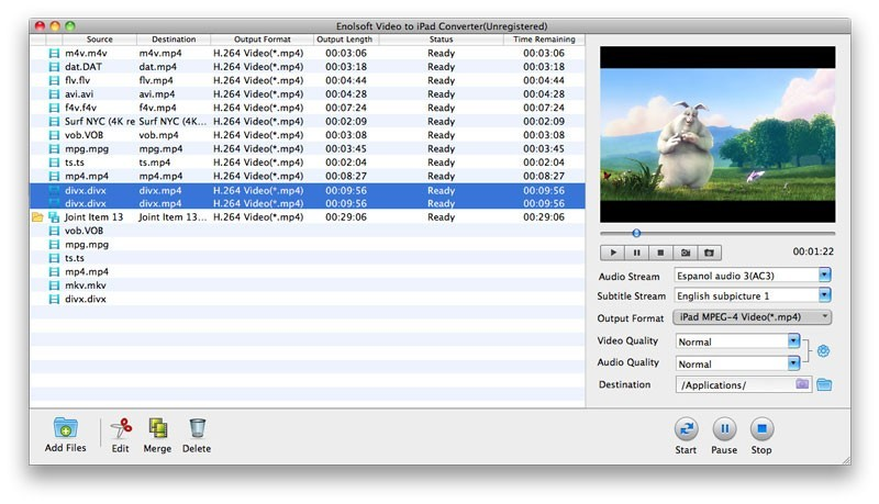 Enolsoft Video to iPad Converter for Mac 3.8.0