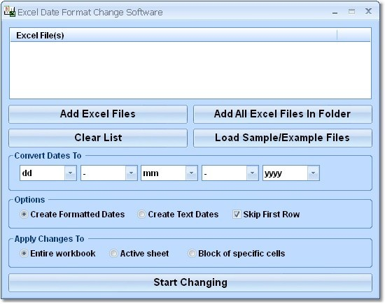 Excel Date Format Change Software 7.0