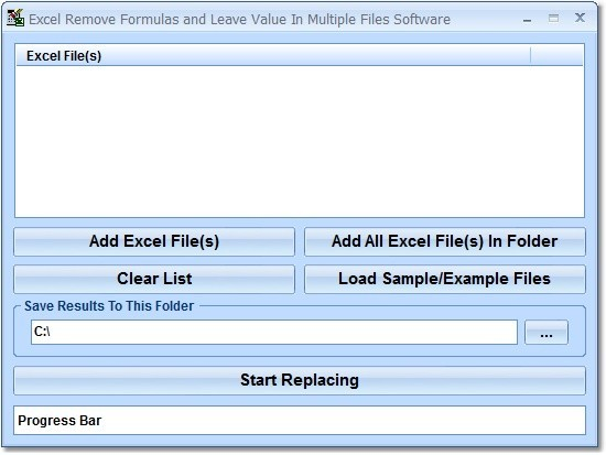 Excel Remove Formulas and Leave Value In Multiple Files Software 7.0
