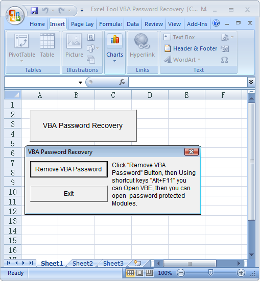 Excel Tool VBA Password Recovery 10.6.1
