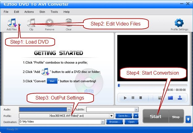 Eztoo DVD To AVI Converter 1.00.02