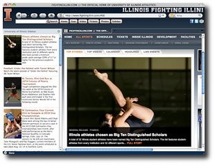 Fighting Illini IE Browser Theme 0.9.0.1