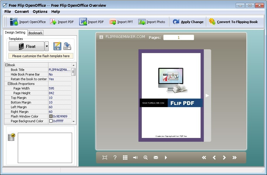 Flip OpenOffice - freeware 2.7