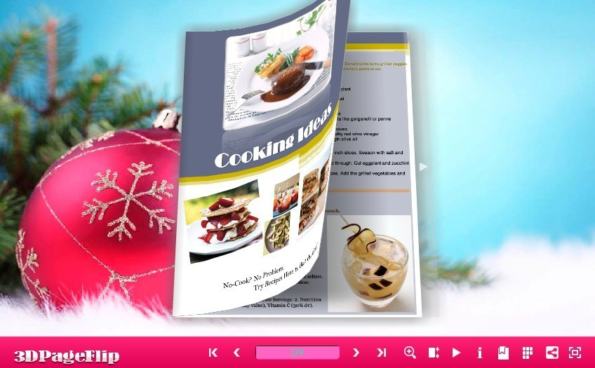 Free 3DPageFlip Flash Catalog Templates for Christmas 1.0