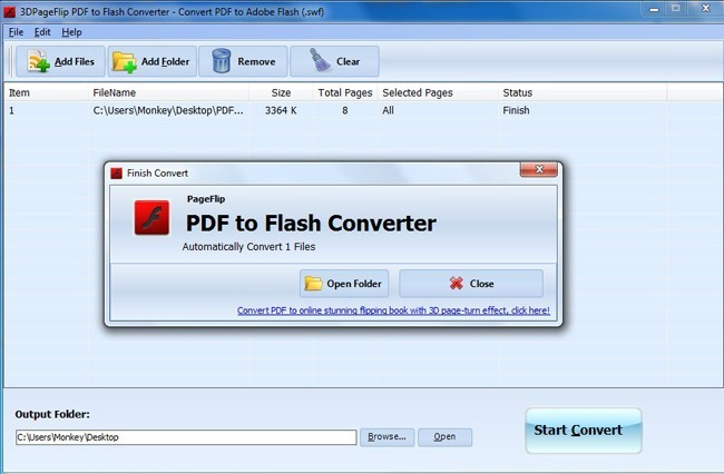 Free 3DPageFlip PDF to Flash Converter 1.0