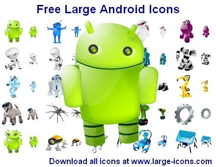 Free Large Android Icons 2011.2