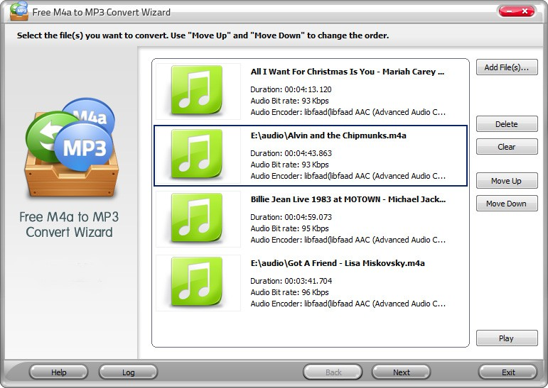 Free M4a to MP3 Convert Wizard 5.3.4
