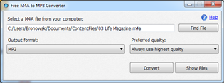 Free M4A to MP3 Converter 1.0