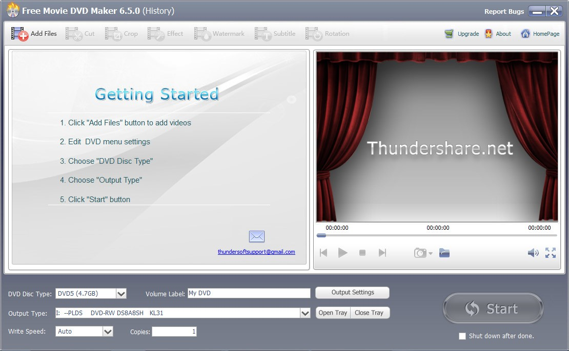 Free Movie DVD Maker 6.5.0.1