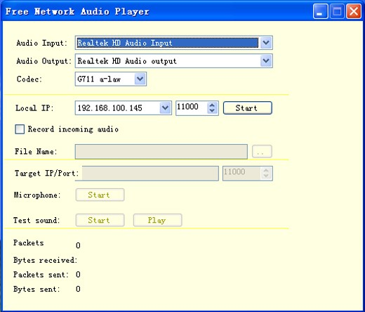 Free Network Audio Player 1.5.0