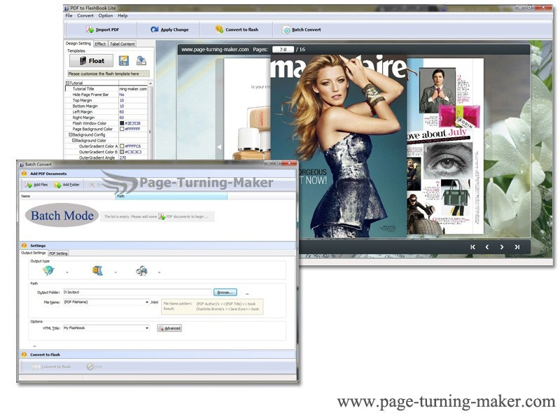 Free PageTurningMaker PDF to FlashBook 1.0