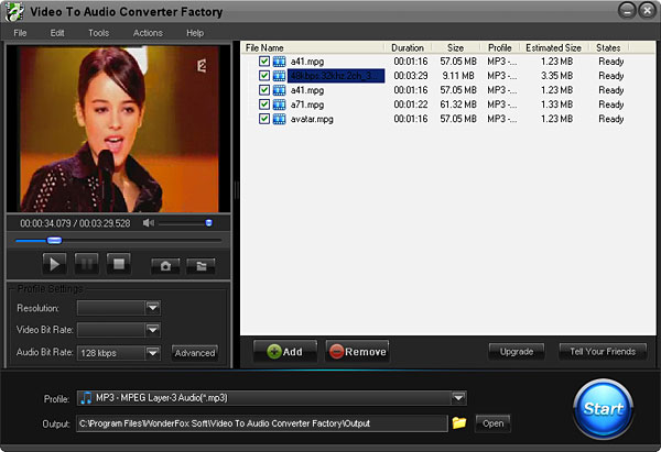 Free Video to Audio Converter Factory 2.0