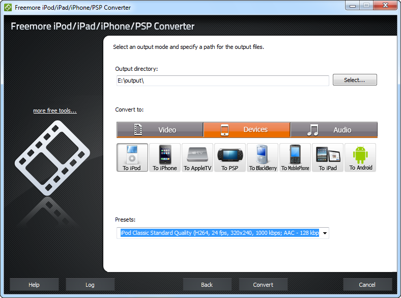 Freemore iPod/iPad/iPhone/PSP Converter 2.4.7