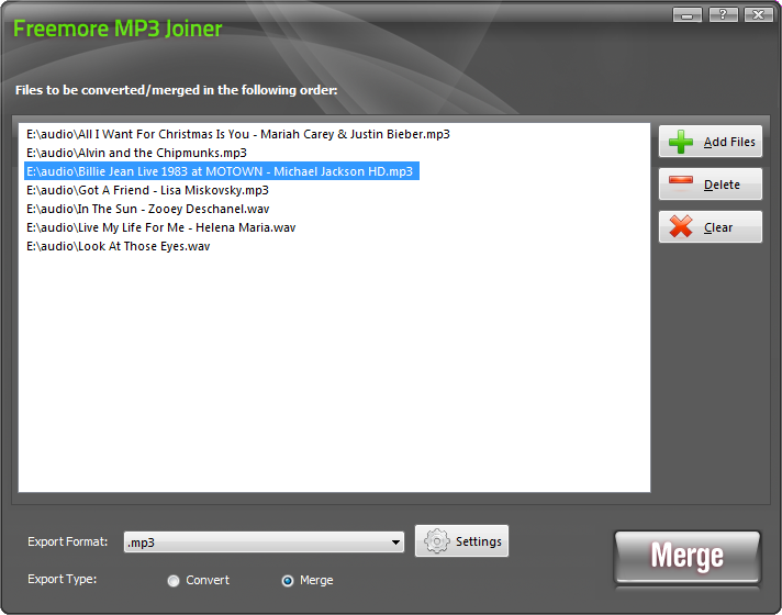 Freemore MP3 Joiner 5.0.7