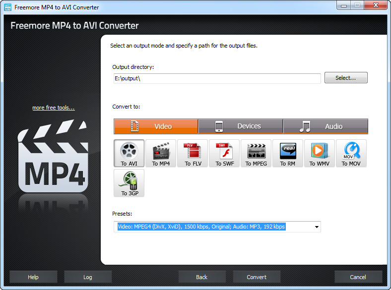 Freemore MP4 to AVI Converter 2.4.8