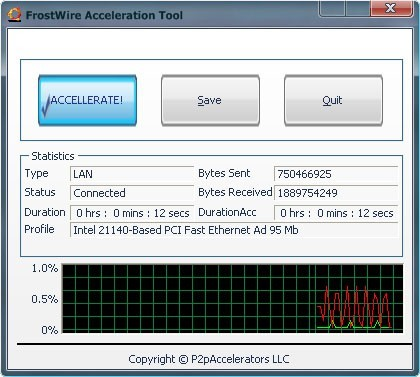 FrostWire Acceleration Tool 3.8.0