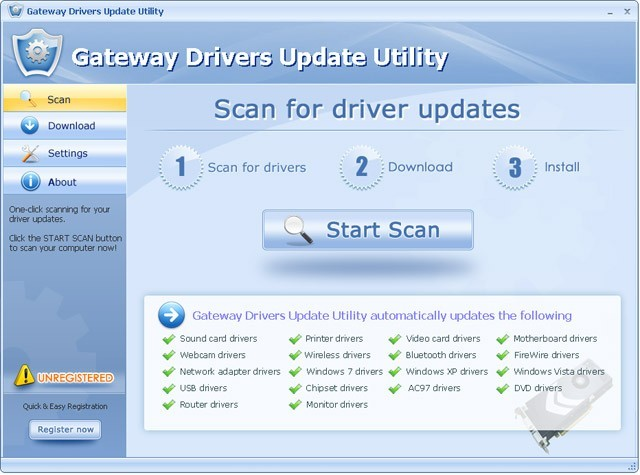 Gateway Drivers Update Utility For Windows 7 3.0