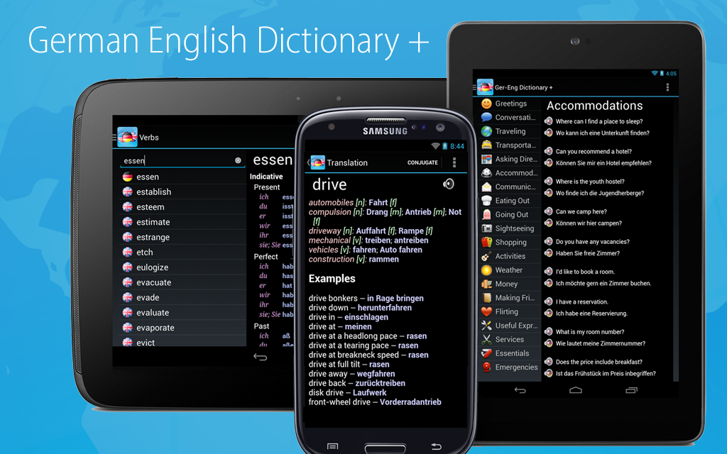 German English Dictionary + Varies with device