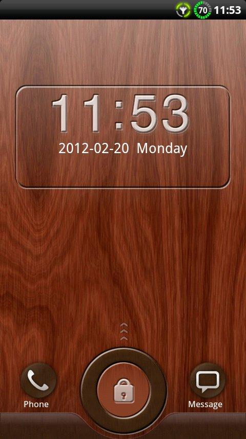 GO Locker Mahogany Wood Theme 1.04