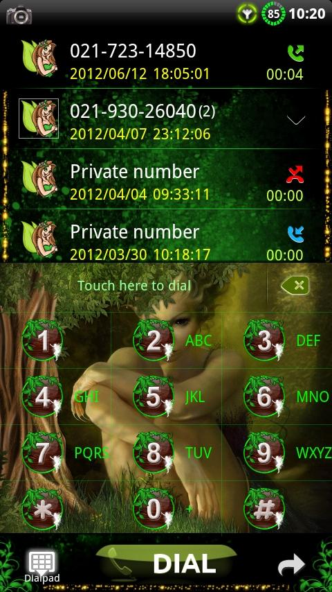 GOContacts Theme Fairy 1.05