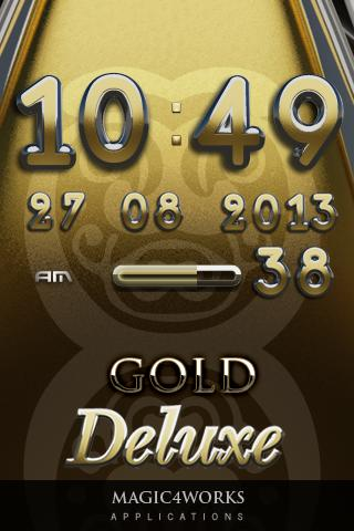 gold deluxe digital clock 2.17