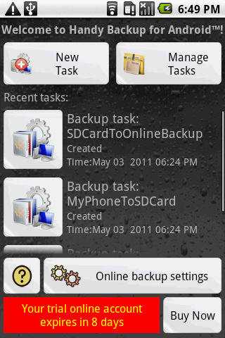 Handy Backup for Android 2.0