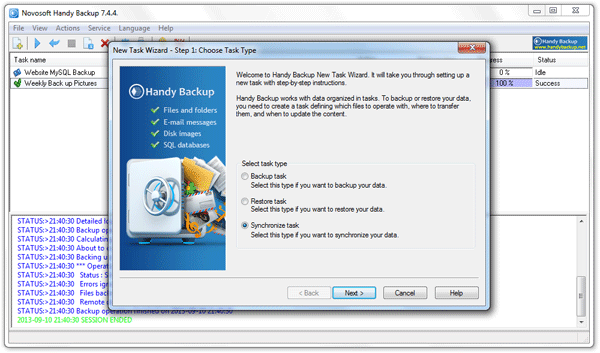 Handy Backup Network Server 7.4.4