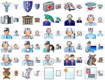 Health Care Icons 2011.3