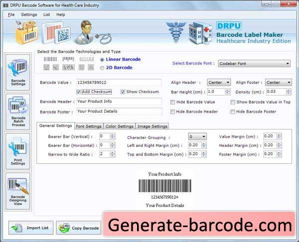 Healthcare Industry Barcode 7.3.0.1