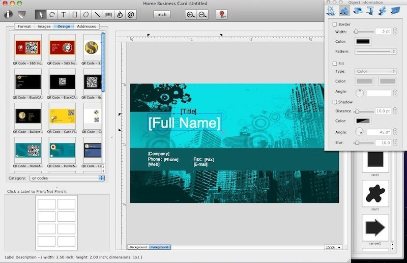 Home Business Card for Mac 1.4.2