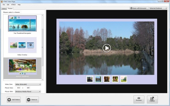 HTML5 Video Player For Windows 1.2.0.0