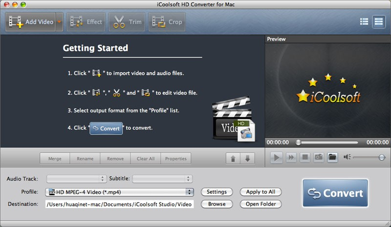 iCoolsoft HD Converter for Mac 5.0.8