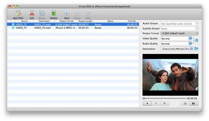 iFunia DVD to iPhone Converter for Mac 3.9.0
