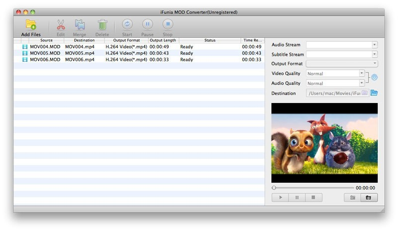 iFunia MOD Converter for Mac 3.9.0