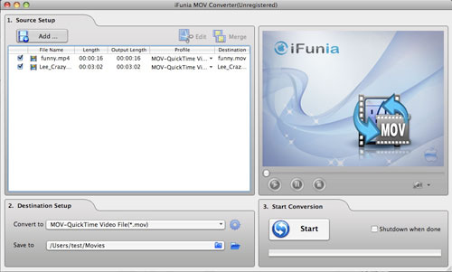 iFunia MOV Converter for Mac 2.0.0.0