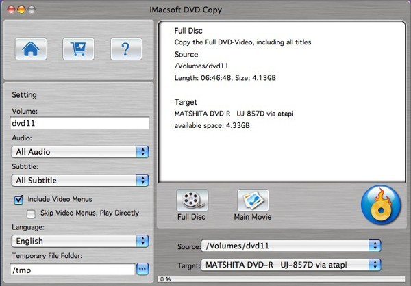 iMacsoft DVD Copy for Mac 2.7.1.0915